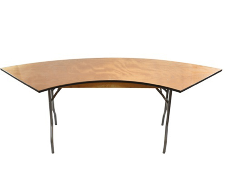 6 ft Serpentine Table